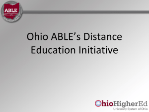 Ohio ABLE*s Distance Education Initiative