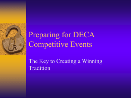 Show DECA Competition Powerpoint - Parkway C-2