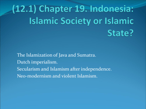 (12.1) Chapter 19. Indonesia: Islamic Society or Islamic