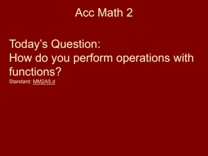 Function Operations Acc Math 2 Notes Jan 29