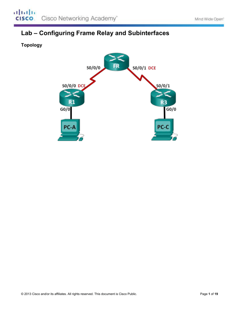 4.2.2.7 Lab - Configuring Frame Relay and Subinterfaces