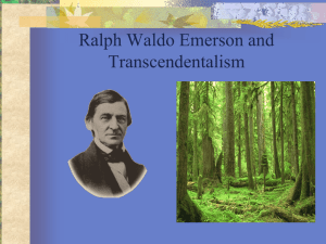Emerson, Thoreau, and Transcendentalism