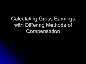 Calculating Gross Earnings with Differing