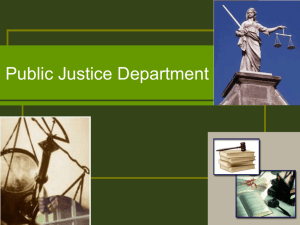 to view an informational powerpoint presentation about Public Justice.