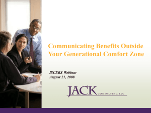 Communicating Benefits Across Generations