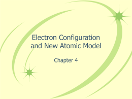 Electron Configuration - Warren County Schools
