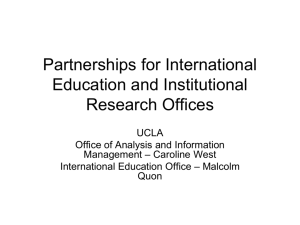 Partnerships for International Education and Institutional