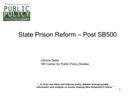 PrisonPostSB500 - New Hampshire Center for Public Policy