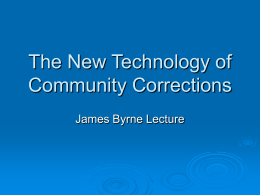 The Hard and Soft Technology in Community Corrections PowerPoint
