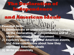 Declaration of Independence and American Ideals