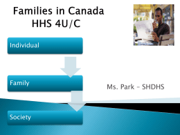 Definition and Functions of Families