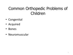 Pediatric musculoskeletal ppt