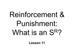 Reinforcers & Punishers