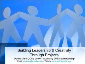 Building Leadership & Creativity Through Projects