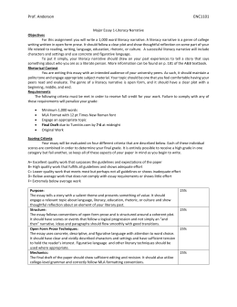 literacy narrative paper