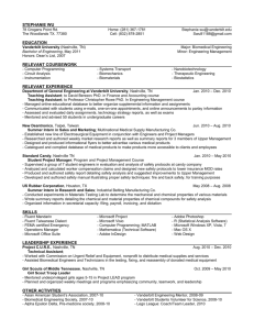 resume - Research - Vanderbilt University