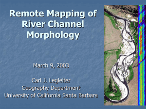 Remote Mapping of River Channel Morphology