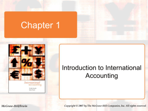 1-9 International Transactions, FDI and Related Accounting Issues