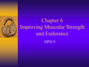 4. Muscular Strength and Endurance