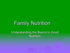 Family Nutrition PowerPoint Complete Version