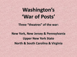 Washington's 'War of Posts'