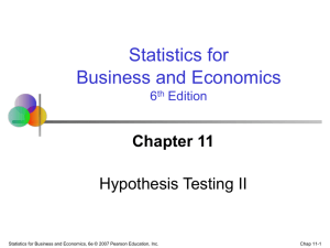 Statistics for Business and Economics, 6/e