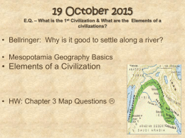 Mesopotamia Geography and Elements of a Civilization