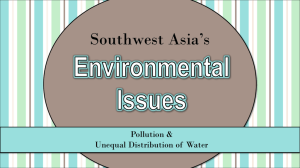 SW Asia Environmental Issues