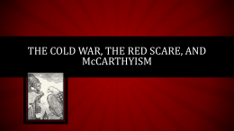 McCarthyism and Red Scare 201415
