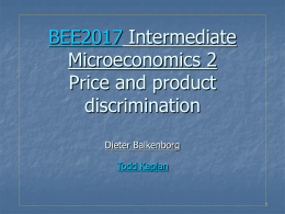 introduction to price discrimination Our model was obtained by introducing perfect price discrimination into fisher   the notion of a rational convex program (rcp) was introduced recently in [23],.