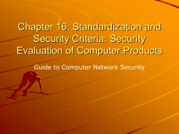 Chapter 15: Security Evaluation of Computer Products
