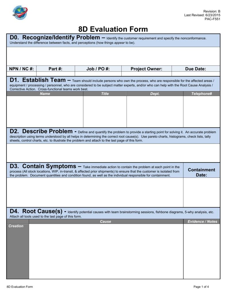 8d process flow diagram 8d supplier report form 5 06 2981  8d supplier report form 5 06 2981