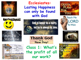 Jim Styles - Ecclesi.. - Livonia Online Bible Class Library