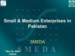 SME Development Policy - State Bank of Pakistan