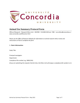 Office of Research - Concordia University