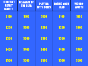 Exam Review Jeopardy PowerPoint #1