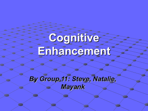 Cognitive Enhancement - UCSD Cognitive Science