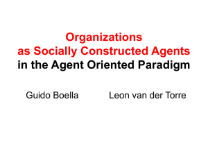 Organizations as Socially Constructed Agents in the Agent
