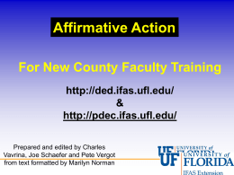 Affirmative Action PowerPoint Presentation