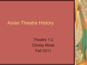 Asian Theatre History