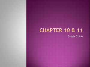 Chapter 10 & 11