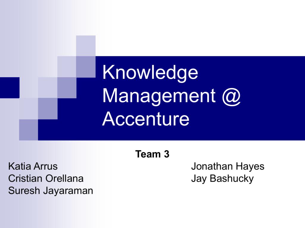 Team 20 Knowledge Management at Accenture