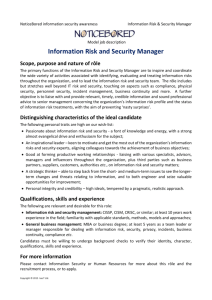 NB model job description for information risk and security manager