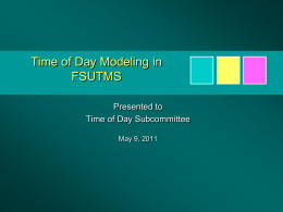 Time of Day Modeling presented by Heinrich McBean