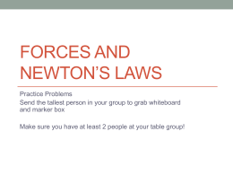 Forces and newton*s Laws