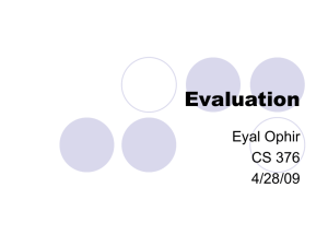 Evaluation - Stanford HCI