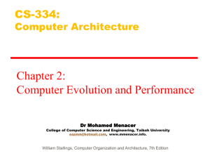 CS334-Chapter2-Computer Evolution and