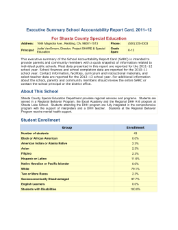 School Accountability Report Card - Shasta County Office of Education