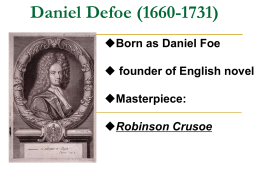 Metamorphoses of Daniel Defoe's Robinson Crusoe in the Twenty-First Century
