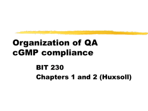 Organization of Quality Assurance